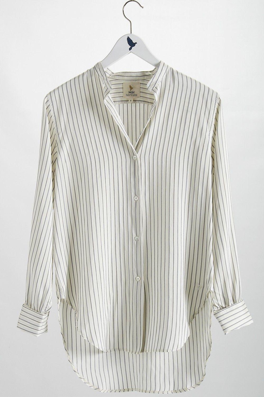 19de0d95 The #MiHJeans Tails Shirt in Silk Stripe #MiH | Treat Yo Self ...