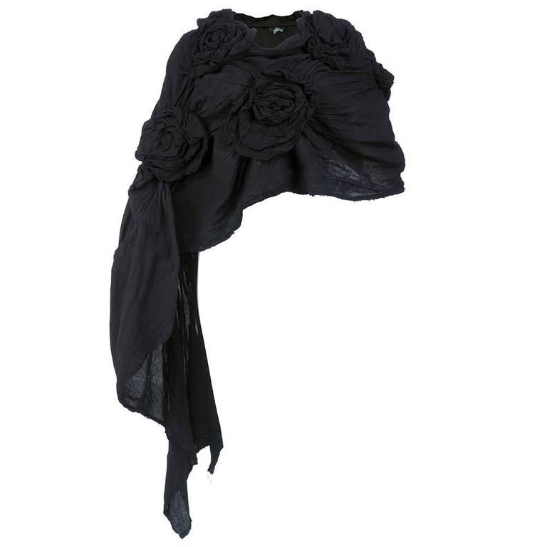 2000s Comme des Garçons Black Avant Garde Wrap For Sale at 1stdibs