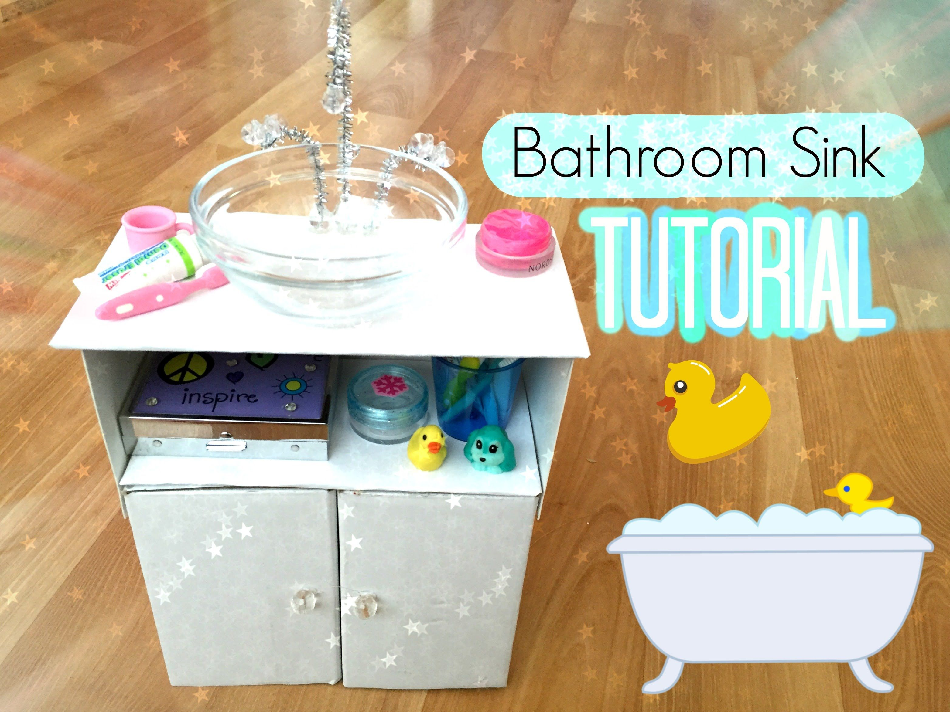 How To Make An American Girl Doll Bathroom Sink With Images