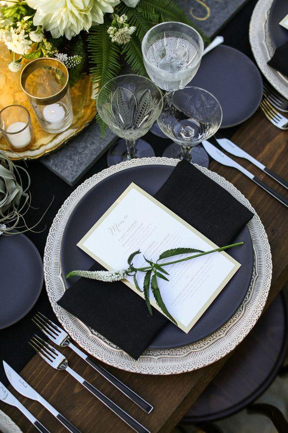 Modern California wedding place setting | Rentals by Casa de Perrin | dogwoods | Pinterest | Wedding place settings Wedding places and California wedding & Modern California wedding place setting | Rentals by Casa de Perrin ...