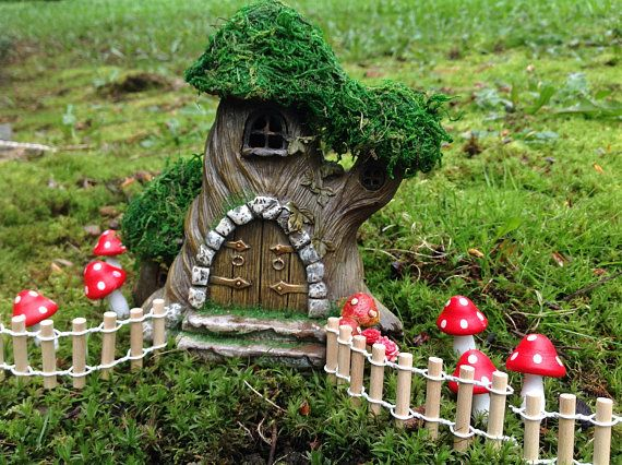 fairy house tree for miniature fairy garden dollhouse accessory haus b ume zubeh r und miniatur. Black Bedroom Furniture Sets. Home Design Ideas