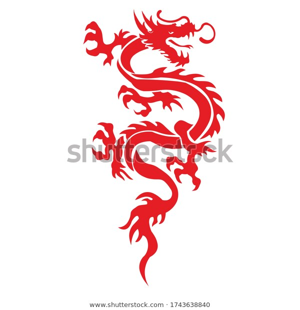 Illustration Vector Traditional Chinese Dragon Fire Stock Vector Royalty Free 1743638840 Fire Dragon Vector Chinese Zodiac Signs