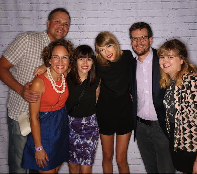 John green with taylor swift at the meet greet before the show john green with taylor swift at the meet greet before the show 1989 tour indianapolis m4hsunfo