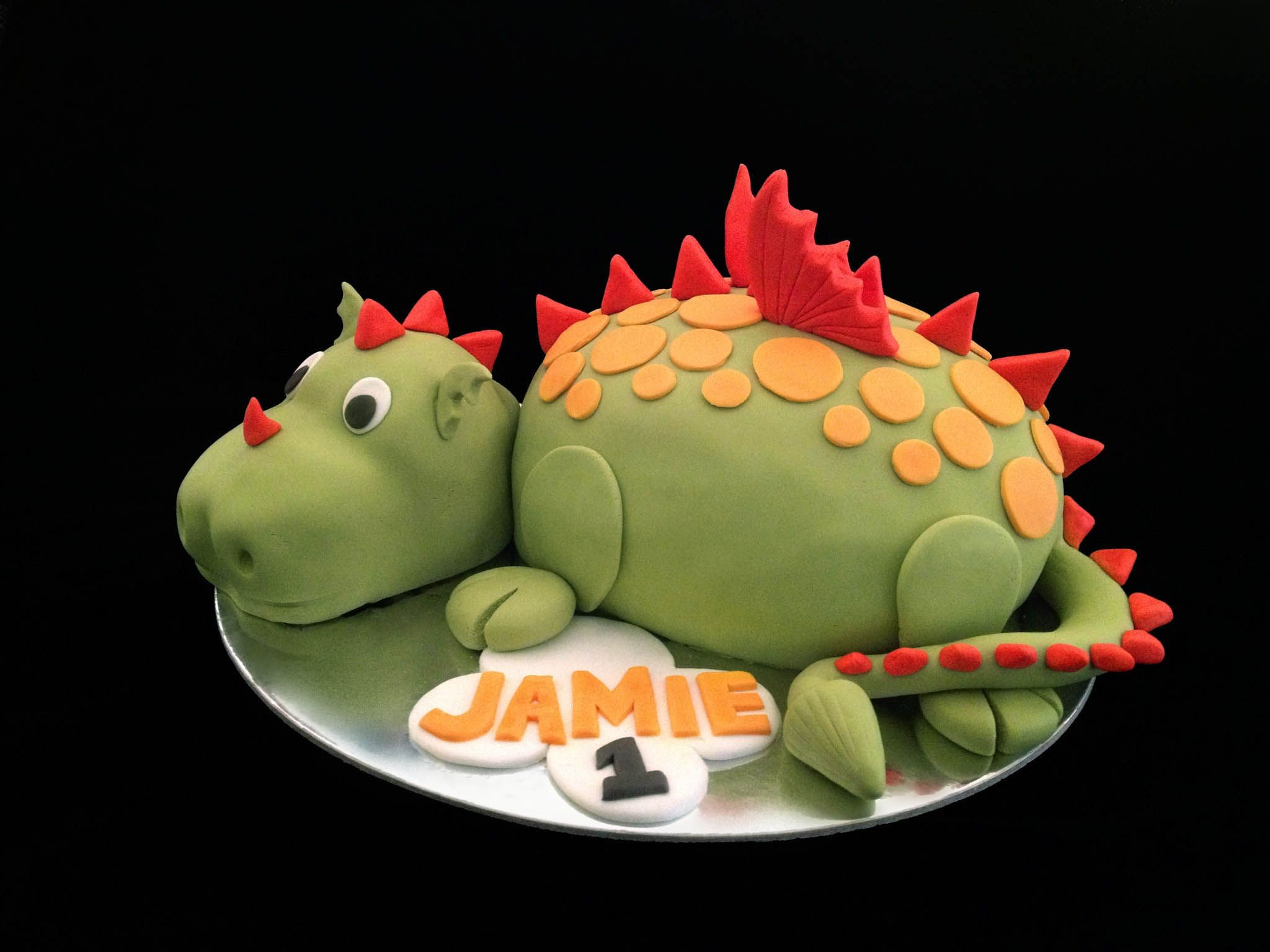 Baby dragon cake - chocolate cake with chocolate jaffa buttercream icing, finished with fondant for deco.  bakeatreat2@gmail.com