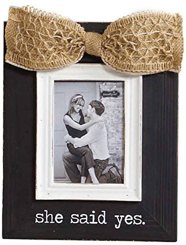 Mud Pie She Said Yes Frame >>> This is an Amazon Affiliate link. See ...