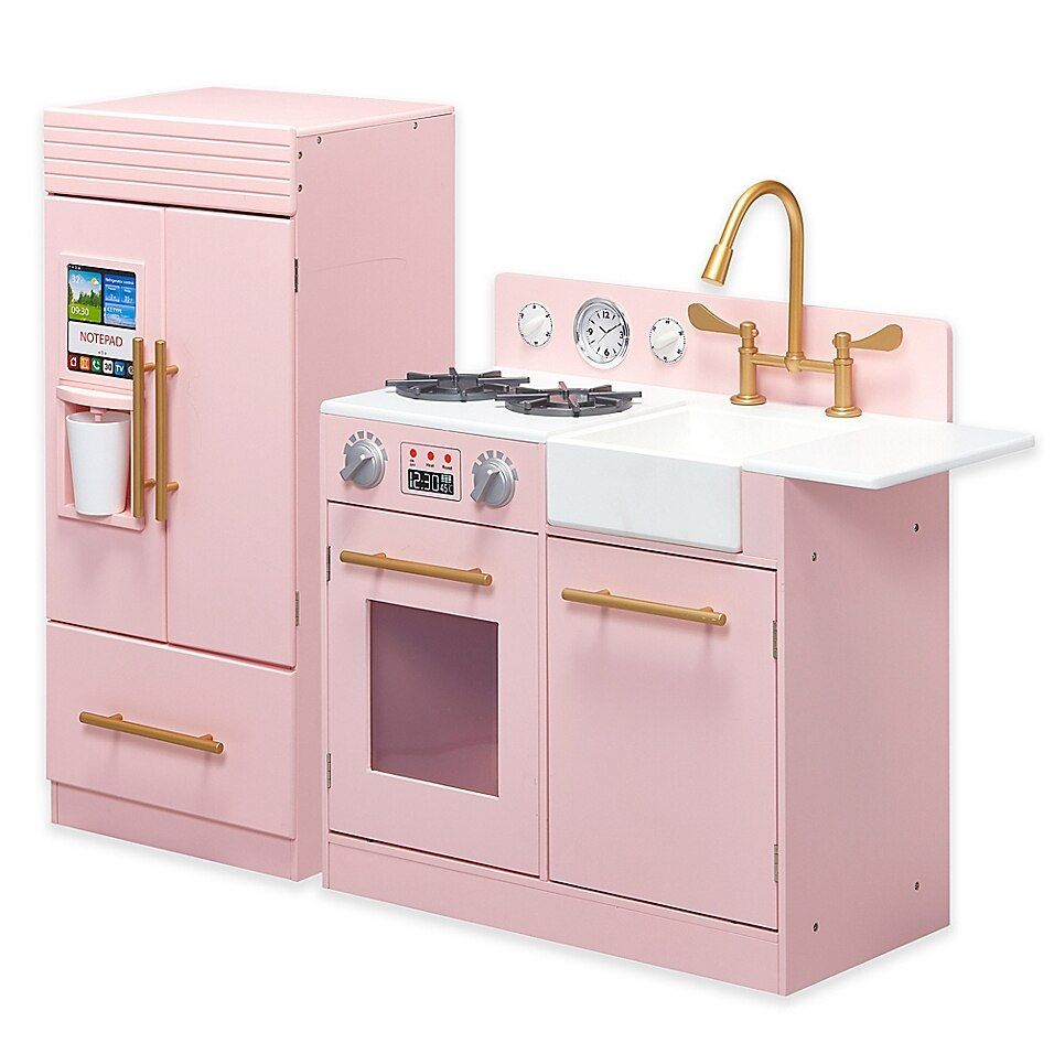 Teamson Kids Little Chef Chelsea Modern Play Kitchen In Pink In 2020 Kitchen Little Chef Kitchen Appliances