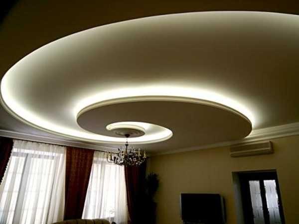 Ceiling Design With Hidden Led Lighting Fixtures
