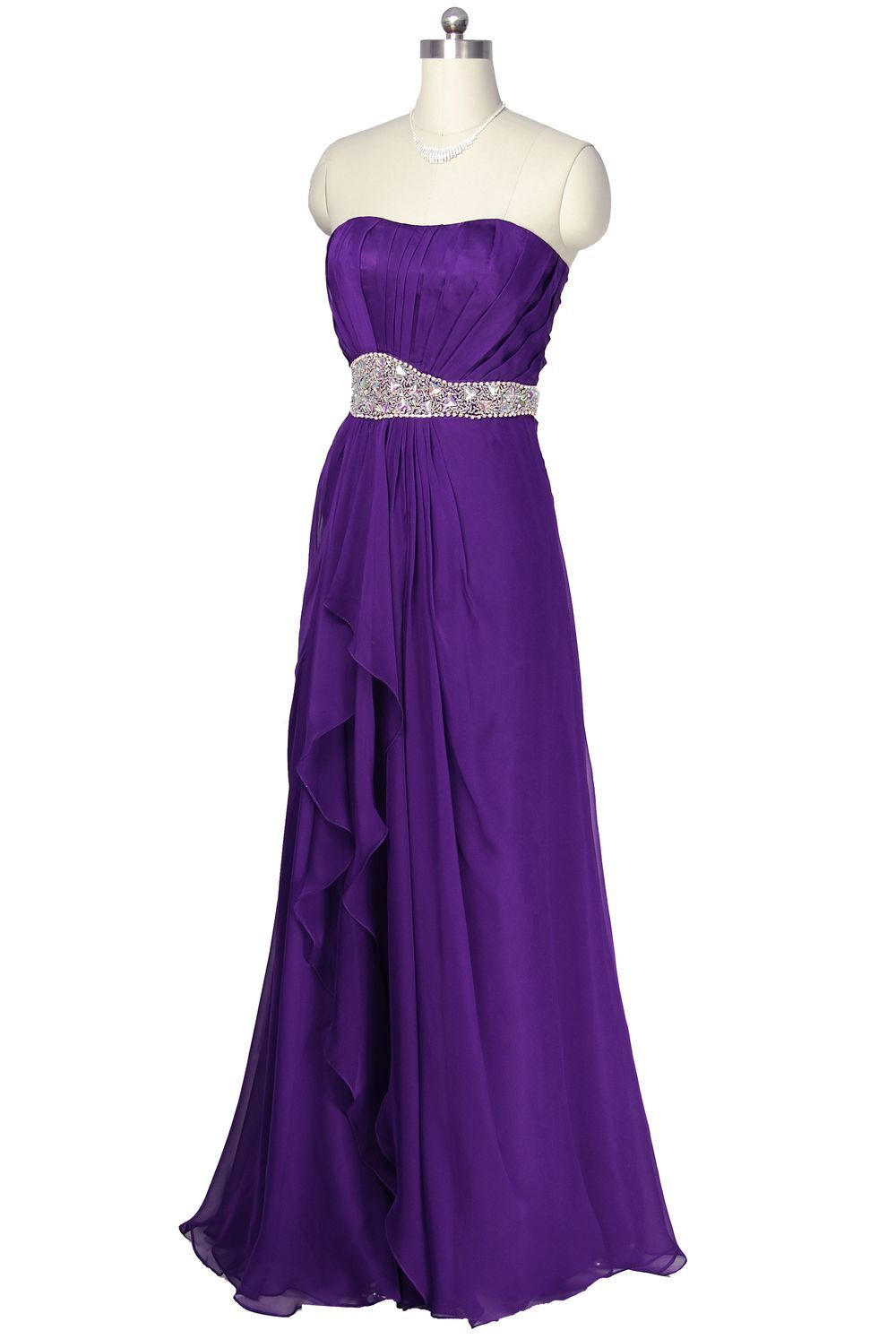 Purple Chiffon Bridesmaid Dresses | Purple Luxury Design Chiffon ...