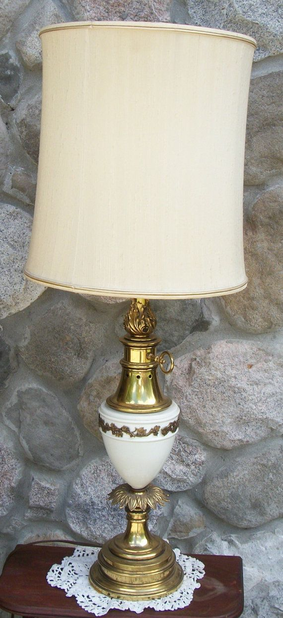 Exceptional Items Similar To Ornate Vintage Stiffel Table Lamp Brass/porcelain Grape  Pineapple Hollywood Regency On Etsy