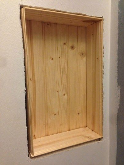 Build a Storage Shelf in the Wall & Save Counter Space