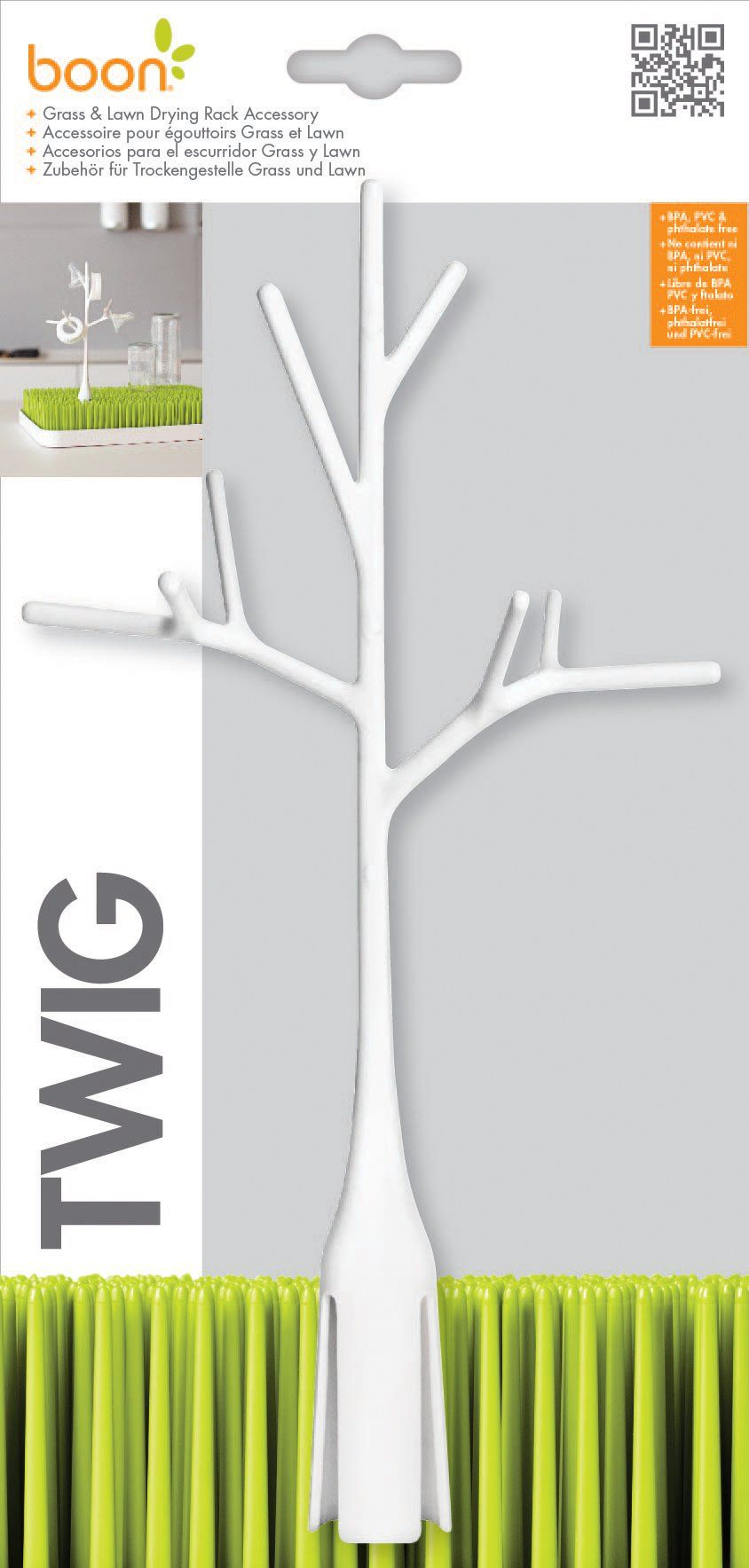 Twig Grass Lawn Drying Rack Accessory Warm Gray Baby Bottle Cleaning Brushes