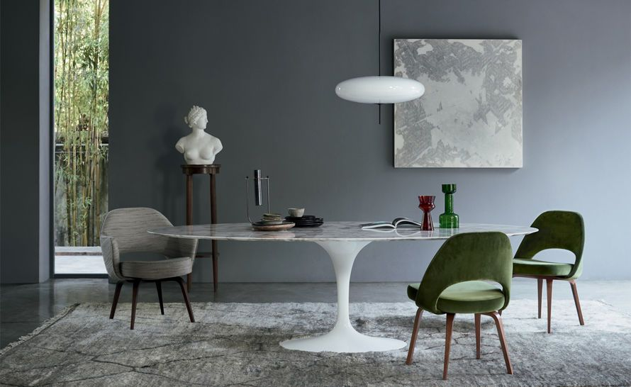 Saarinen Executive Side Chair With Wood Legs In 2019 House Decor