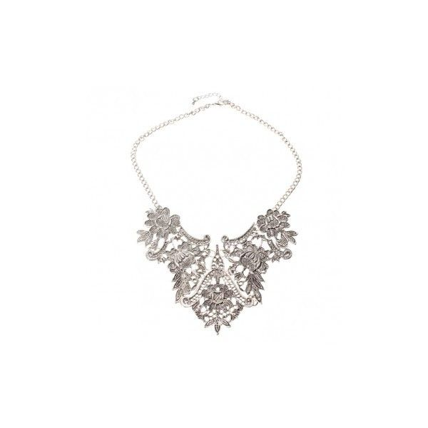 Silver plated flower statement choker necklace 491 liked on silver plated flower statement choker necklace 491 liked on polyvore featuring jewelry mightylinksfo