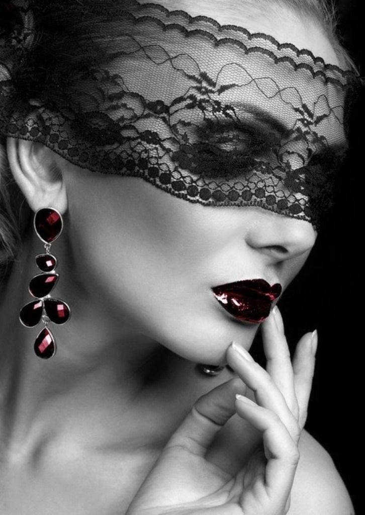 Lace Mask Love The Juicy Dark Red Lips Fashion Lace Mask