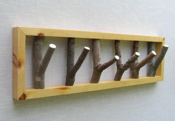 Tree branch hook coat rack 28 x 8 heavy duty coat rack - Fabriquer un porte manteau mural ...
