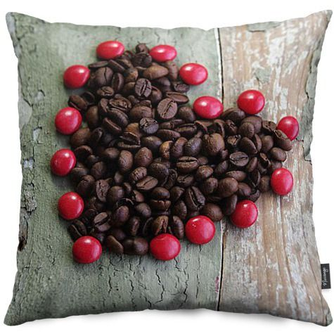 Kaffee-Herz mit süßen Schokolade Kissen von Bilder für die Wand | Nuvango