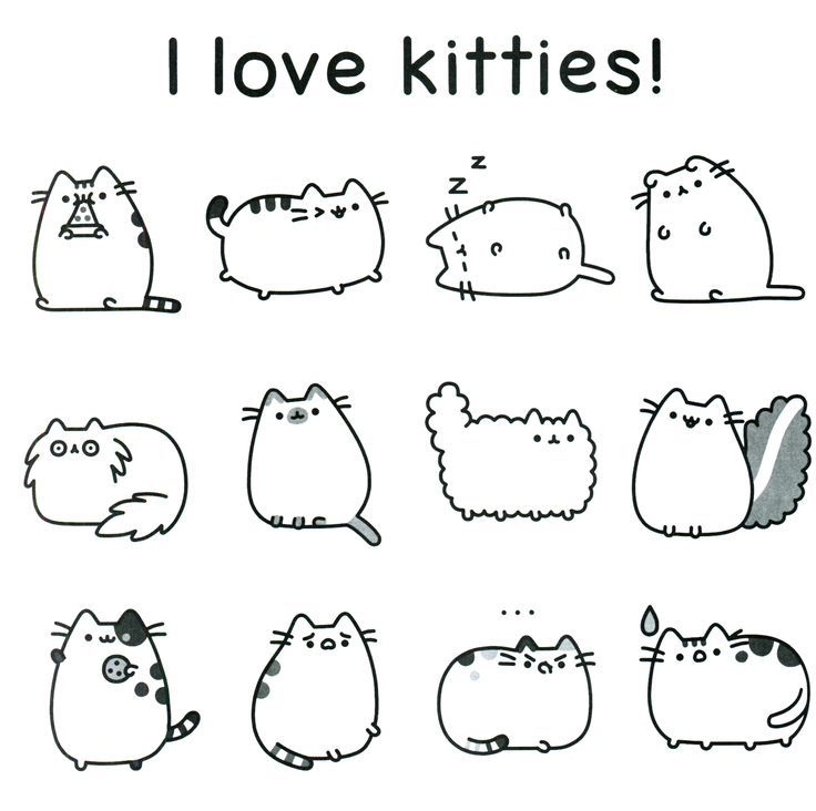 I Love Kitties Pusheen Coloring Page Pusheen Coloring Pages Unicorn Coloring Pages Cat Coloring Page