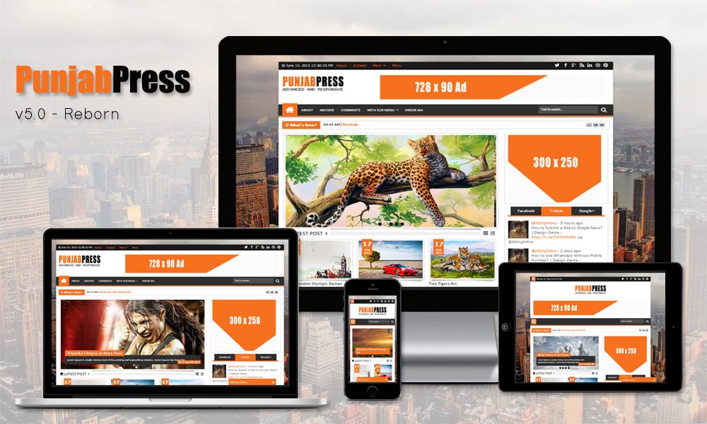 Punjab Press v5.0 Blogger Template Free Download | Design Devta ...