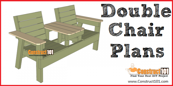 Double Chair Bench Plans Step By Step Plans Construct101 Outdoor Bench Plans Bench Plans Wood Bench Plans