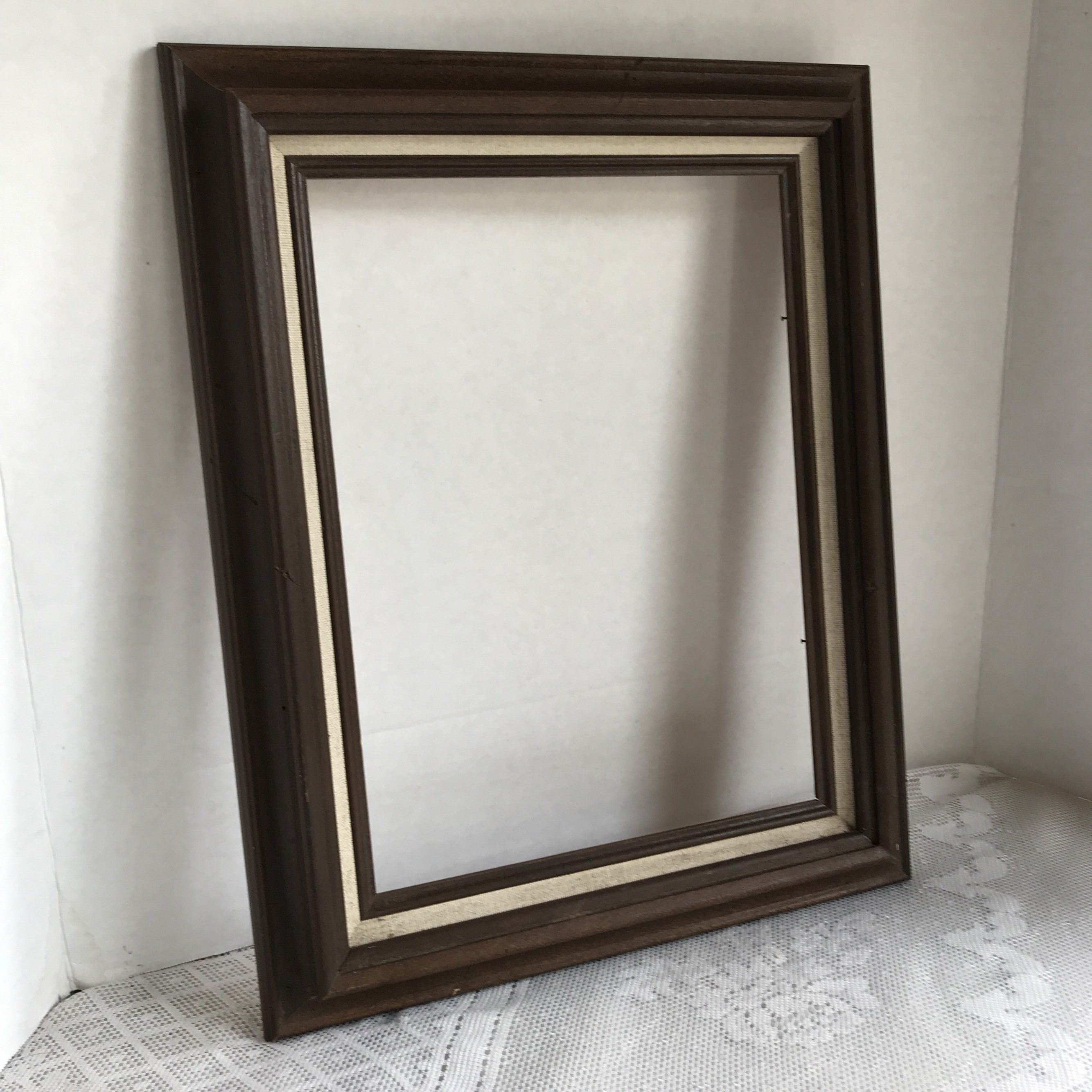 Vintage Brown Wooden Picture Frame 9 X 12 Inch Wood Frame Wooden Picture Frames Picture Frames Etsy Vintage