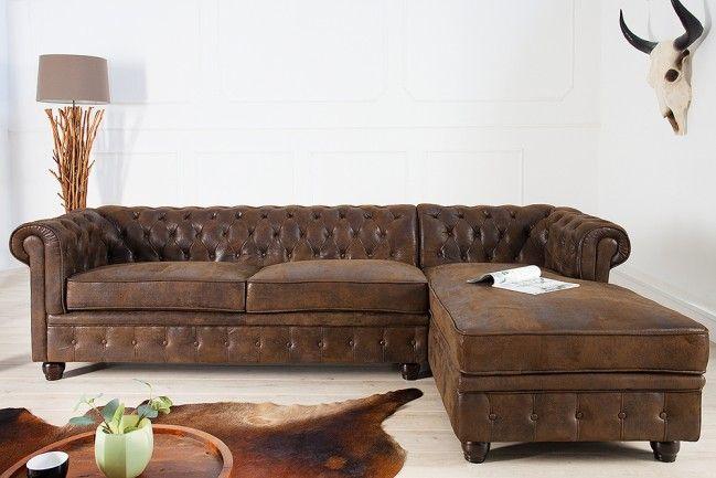 Chesterfield Ecksofa edles chesterfield ecksofa im antik look ot rechts eckcouch sofas
