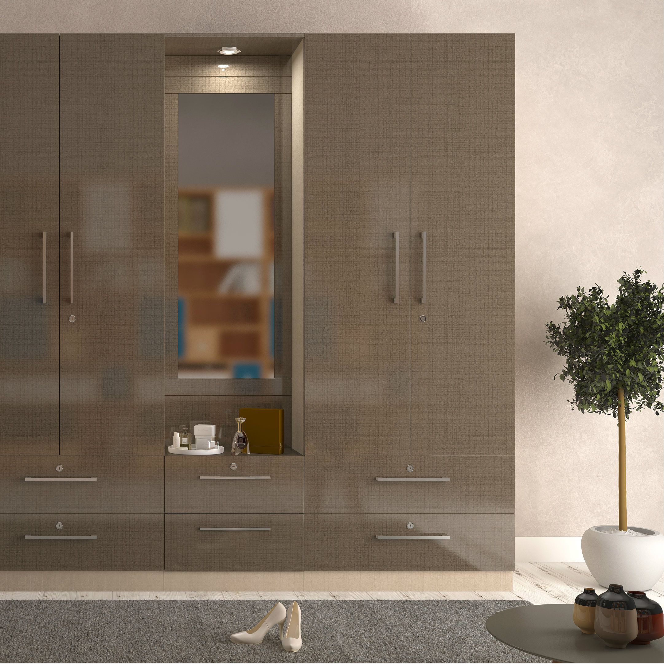 The perfect space saver - modular wardrobe outfitted with ...