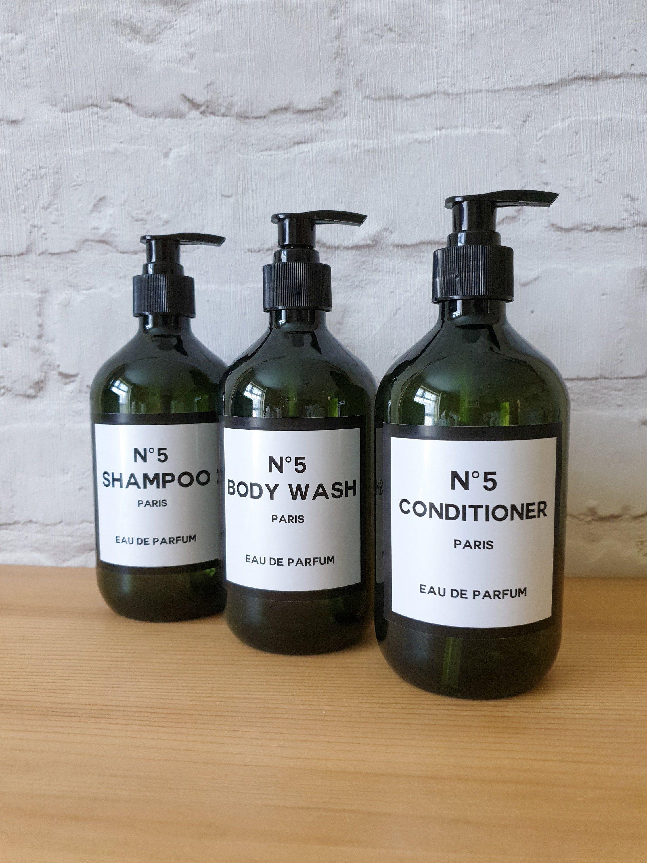 Designer Bathroom Bottles Shampoo Conditioner Soap