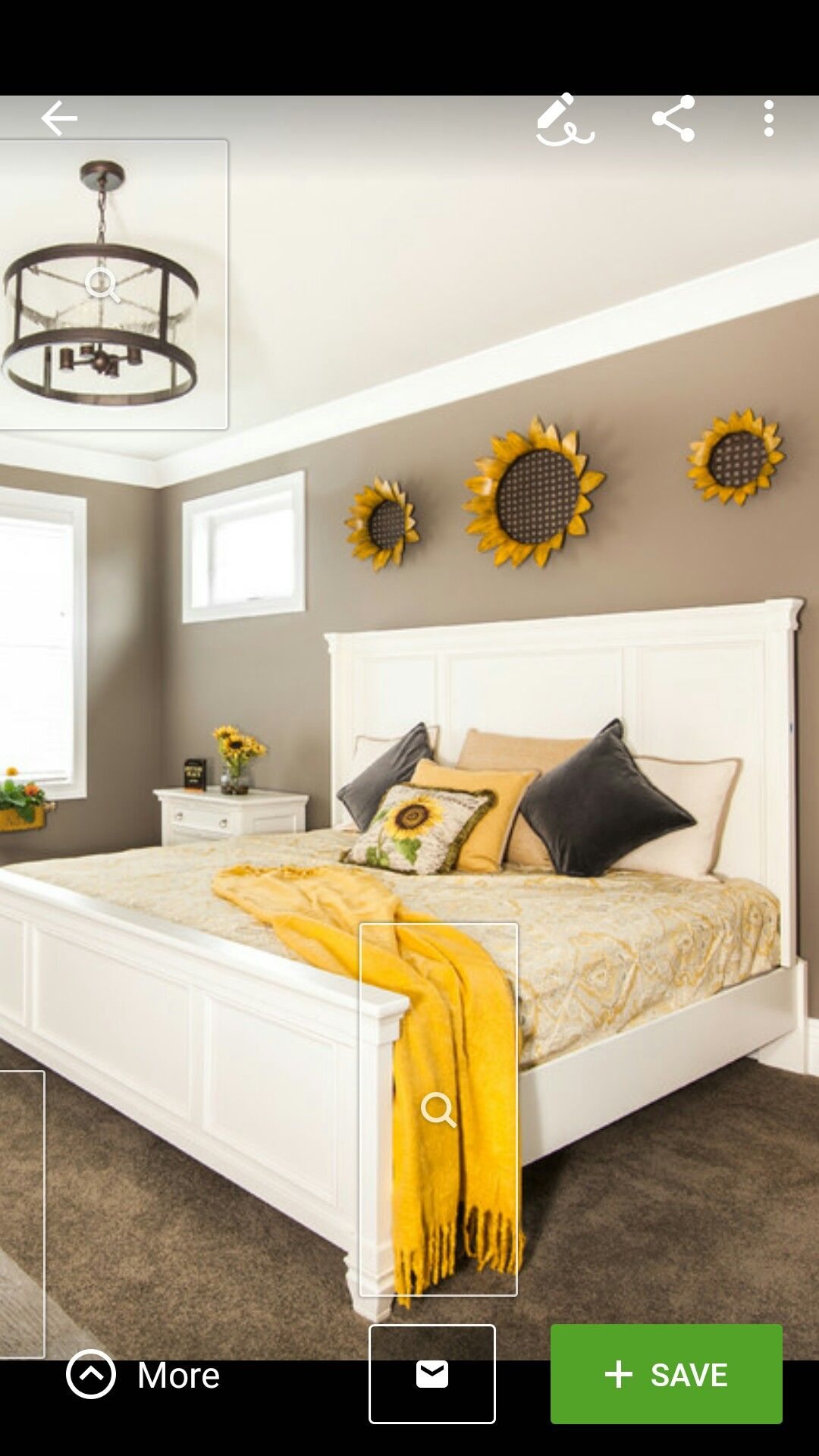 Farmhouse master bedroom Really nice and cozy feeling to it,Love