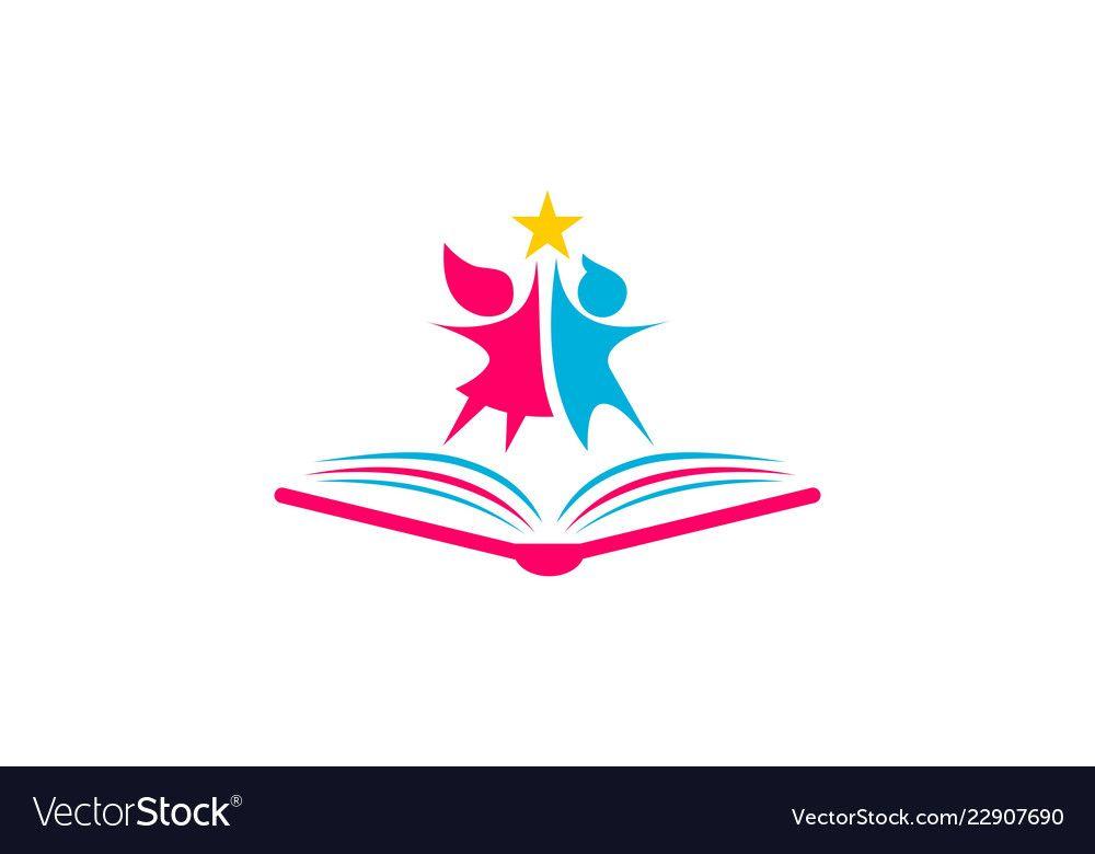 Kids School Logo Vector Image On Logotipo Logomarca Infantil