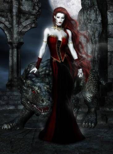 vampira dark art fantasy drawing gothic vampira desenho tattoo