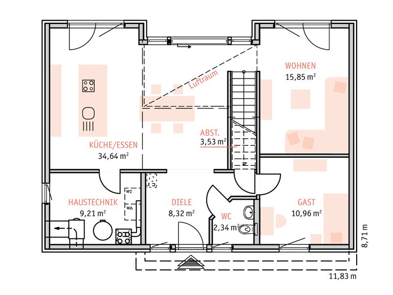 Moderne architektur häuser grundriss  STREIF Haus Helsinki - Grundriss Erdgeschoss | Architektur ...