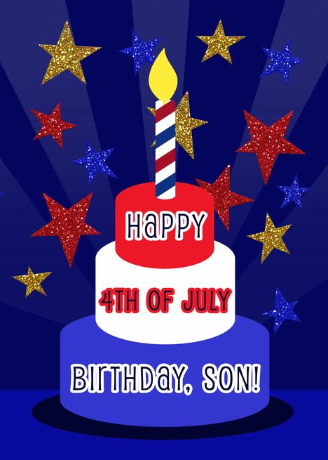 Happy 4th Of July Birthday Son Holiday Birthday Red White