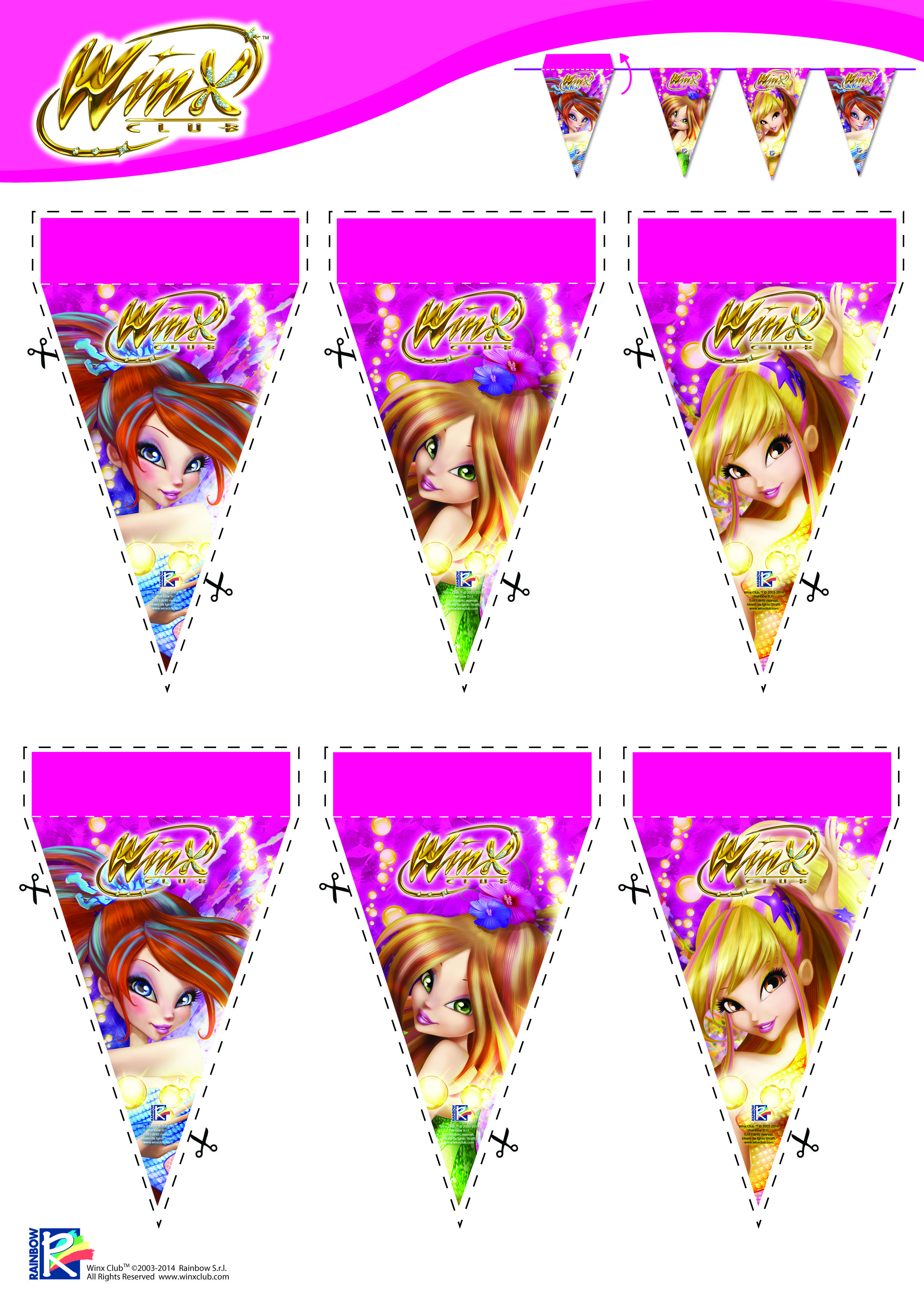 Decoration Stuff For Party Party Decorations Winx Club Printables Pinterest Activities
