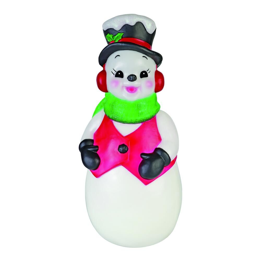 41 Snowman Blow Mold At Menards Retro Christmas Decorations Christmas Vignettes Christmas Display