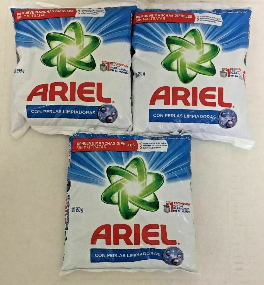Ariel Powder Laundry Detergent 250 G Each Pack 3 Packs Free