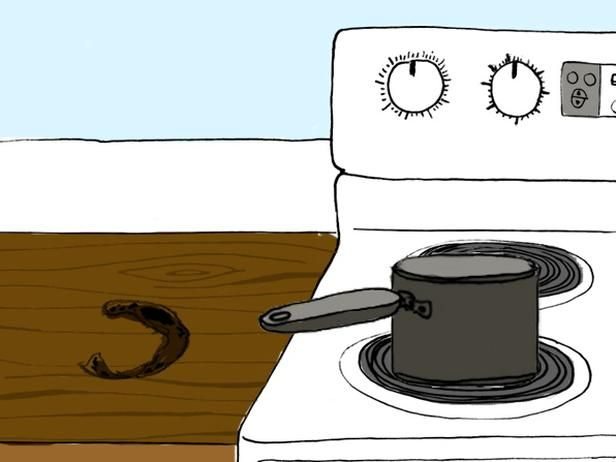 What to Do If You Burn a Wood Countertop