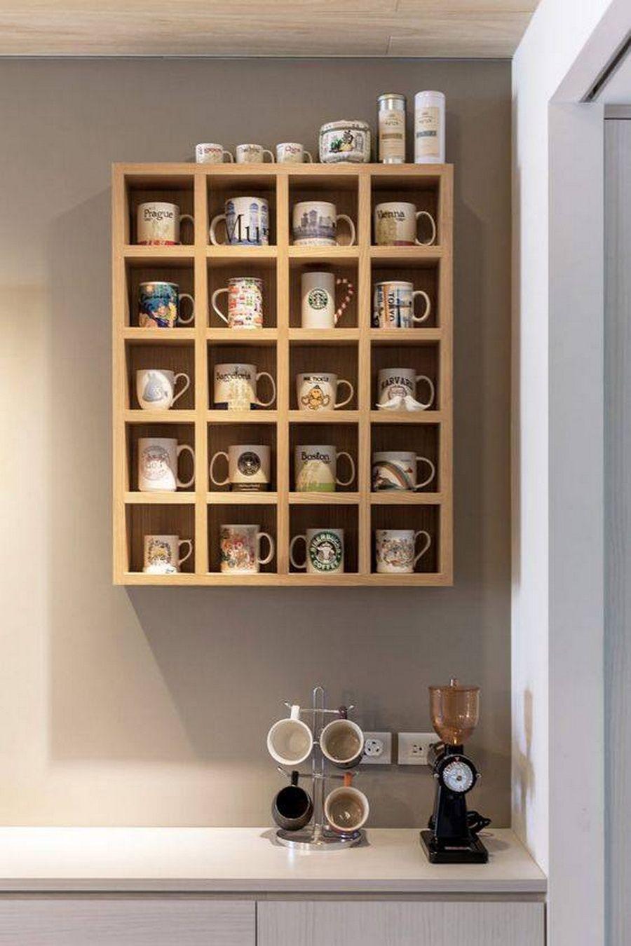 38 ไอเด ย ช นวางของต ดผน ง ไอเด ยส ดแนวเพ อสร างพ นท เก บของ พร อมตกแต งบ านไปในต ว Naibann Com Wooden Shelving Units Mug Storage Home Decor