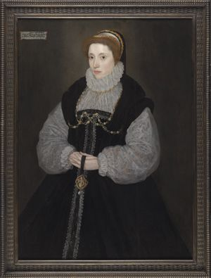 Portrait Of The Hon Dorothy Latimer 1549 1608 Wife Of Thomas Cecil Later 1st Earl Of Exeter Holding A Pendant D Cecil Renaissance Fashion Elizabethan Era