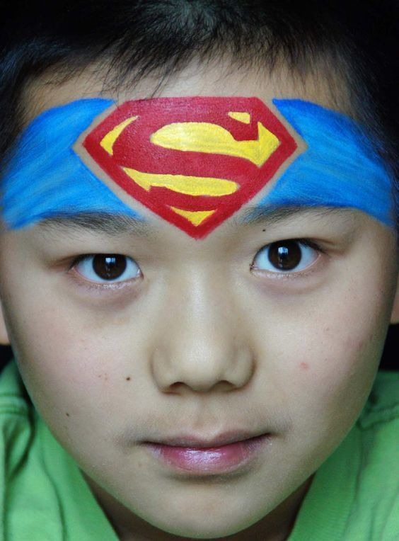 idees gia ola 60 face painting ideas for kids makeup superman face painting girl face. Black Bedroom Furniture Sets. Home Design Ideas