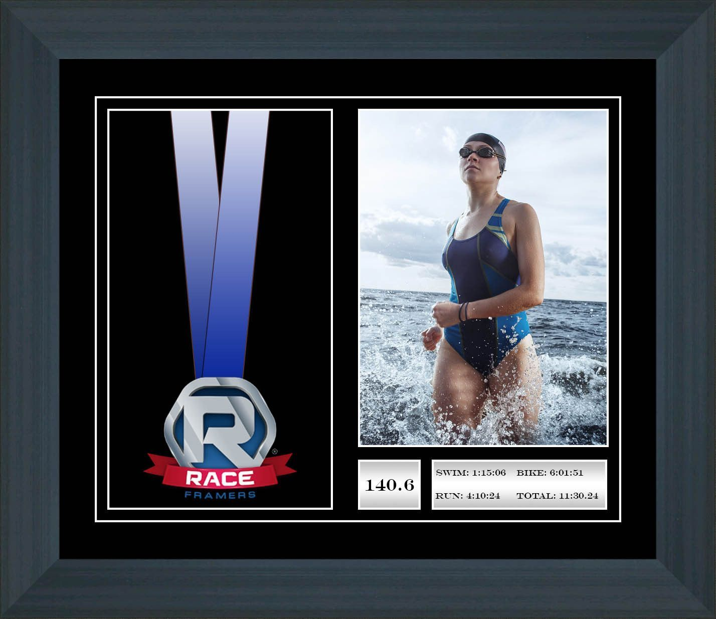 "10"" x 12"" Triathlon Race Medal Display Frame"