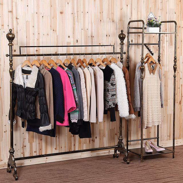 High End Clothing Store Display Racks Wrought Iron