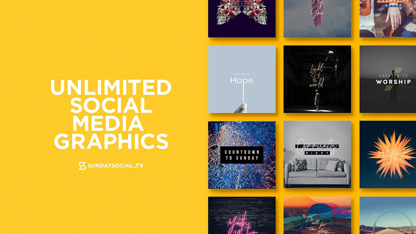 Get Instant Access To Over 1 600 Graphics Sundaysocial Tv Created Social Media Graphics For Churches Memberships Social Media Graphics Social Media Social Tv