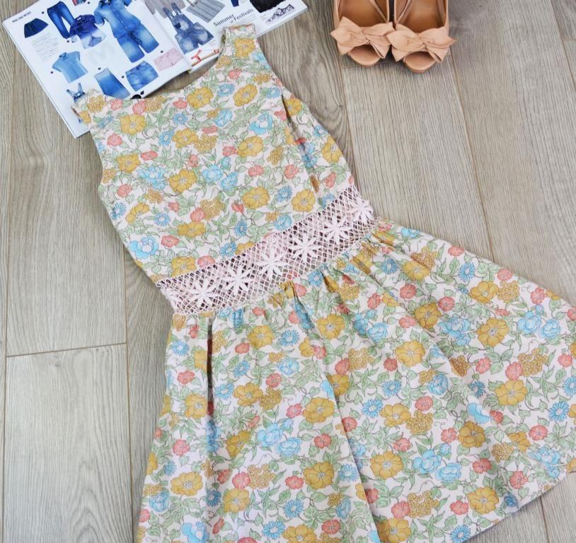 Sukienka Azurowa Wstawka W Talii Topshop R 36 4263213391 Oficjalne Archiwum Allegro Summer Dresses Fashion Dresses