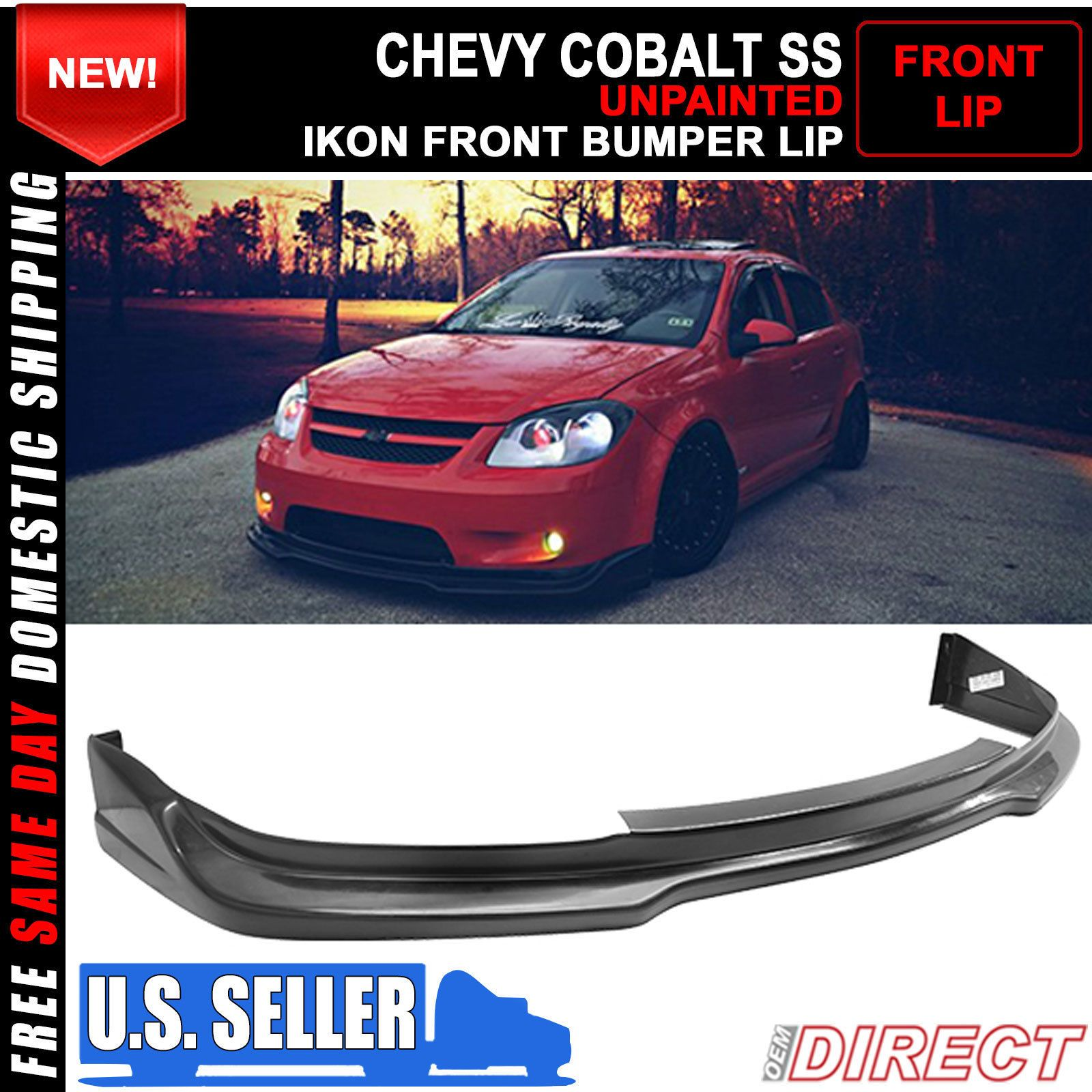 05 10 chevy chevrolet cobalt ss coupe sedan ikon front bumper lip 05 10 chevy chevrolet cobalt ss coupe sedan ikon front bumper lip chin spoiler ebay sciox Gallery
