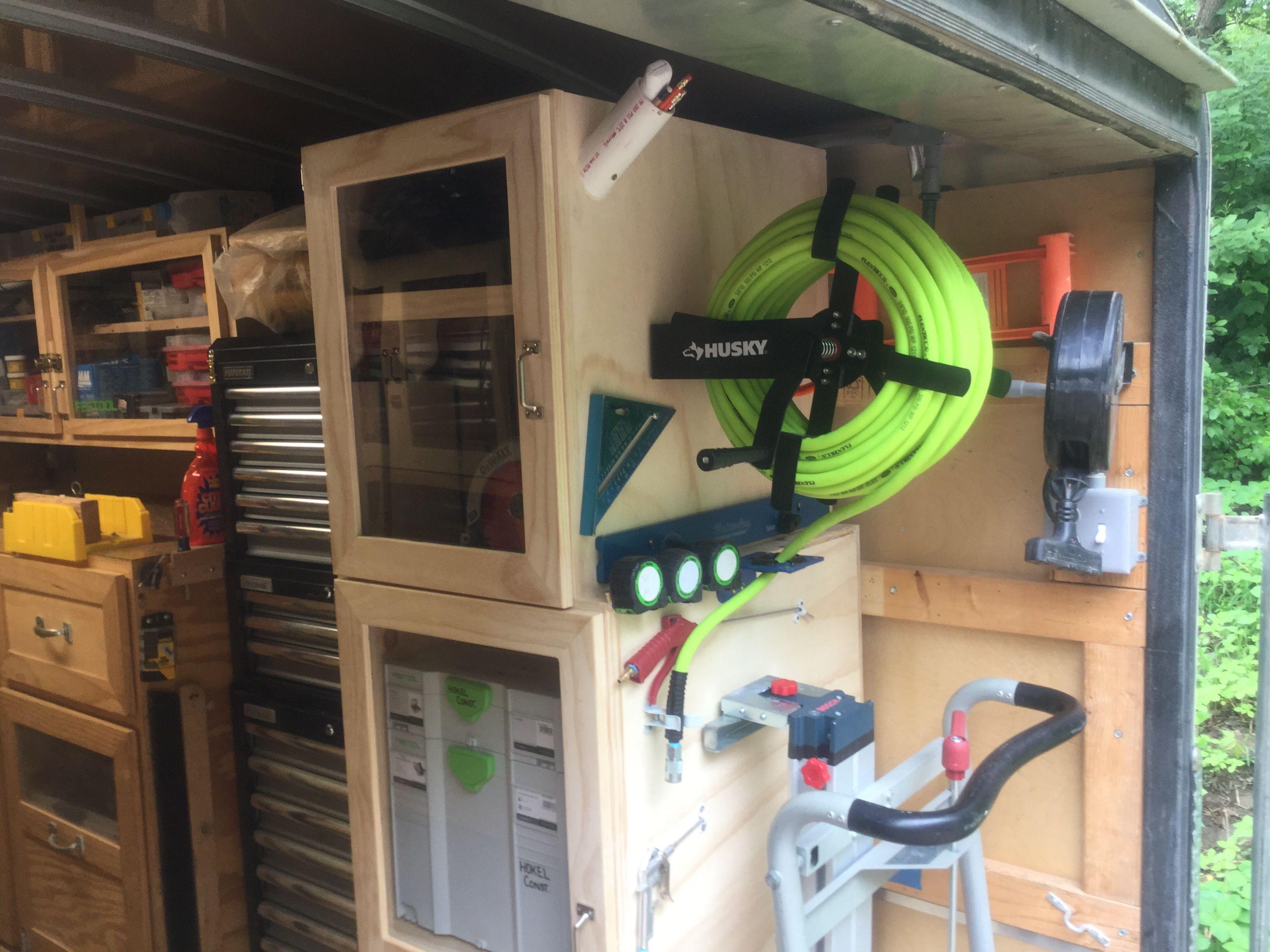 pingl par michael lloyd sur utility trailer ideas pinterest camion amenager am nagement. Black Bedroom Furniture Sets. Home Design Ideas