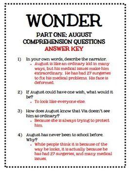 Wonder novel study r j  palacio literature guide | School