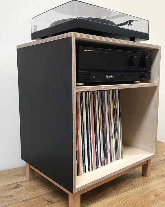 Turntable Console With Images Turntable Furniture Plywood