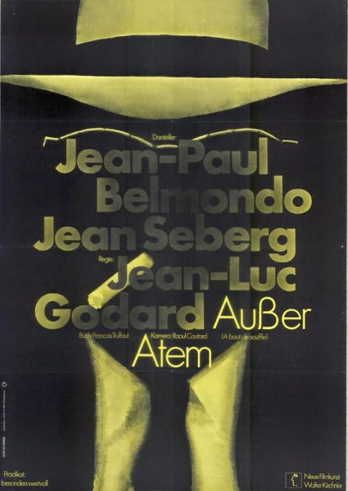 - BREATHLESS; German poster by Hans Hillmann and...