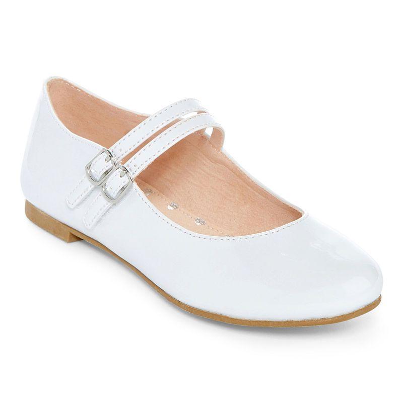 New girl/'s kids back zipper closure mary jane bow wedding flower girl Beige