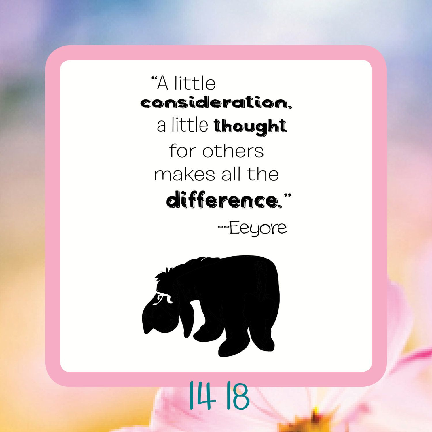 A Little Consideration, A Little Thought For Others Makes All The Difference- Reusable Craft Stencil, Decal or Board Design by StencilHeavenForYou on Etsy
